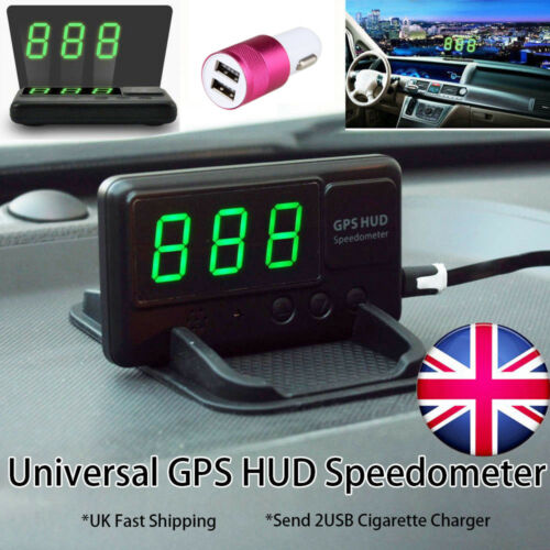 Universal GPS HUD Digital Head Up Display Car Speedometer With Car Charger 2018
