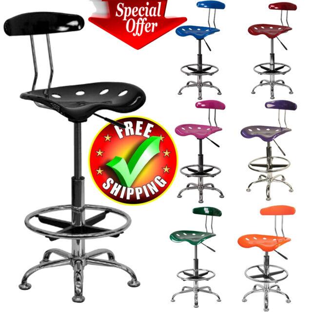 Fabulous Drafting Stool Chair Adjustable Tractor Pneumatic Chrome Bar Modern Seat Machost Co Dining Chair Design Ideas Machostcouk