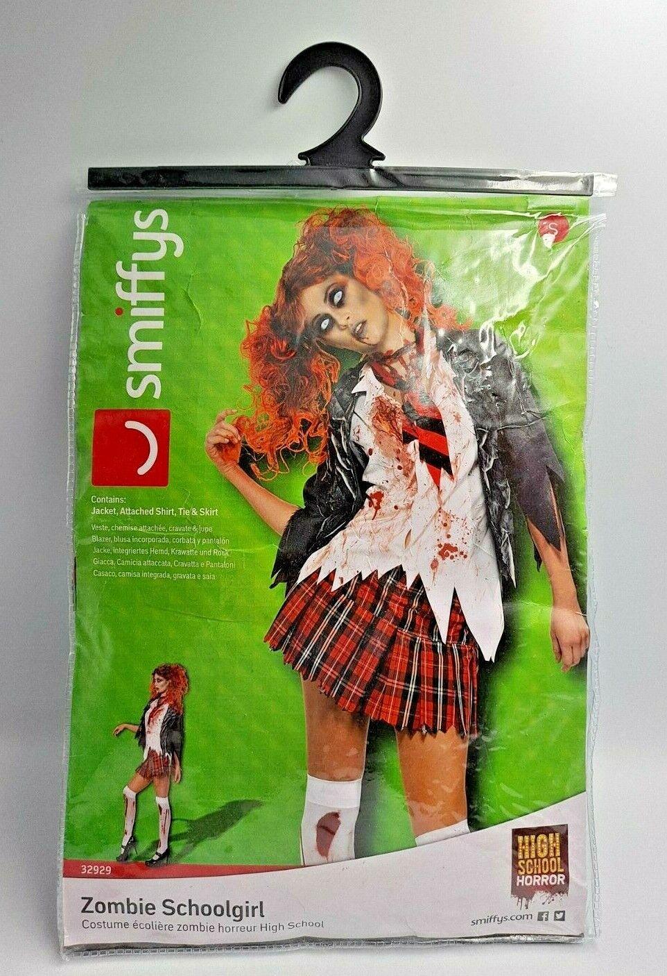 Zombie Schoolgirl Halloween Fancy Costume Size small - 8 - 10 Years