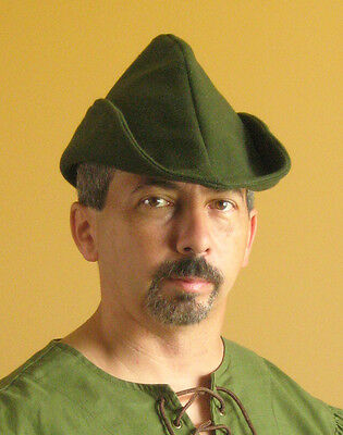 Medieval Celtic Renaissance Larp SCA Peasant Forester Robin Hood Classic Hat
