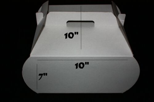 Packs of 5 4 Drop Sides 20 and 50 Side Loading 10 Cake Box with Handles