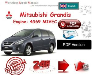 mitsubishi grandis workshop repair manual pdf version ebay rh ebay co uk mitsubishi grandis owners manual download mitsubishi grandis owner's manual