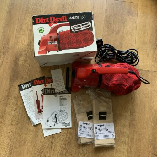 Vintage 90s DIRT DEVIL HANDY 150 Box Instructions Spare Bags *WORKING*