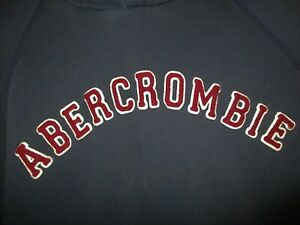 Abercrombie-Hoodie-Pull-Over-Sweatshirt-Blue-Red-Men-039-s-Size-L-Large