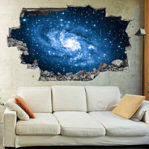 Space Milky Way Stars Planets 3D Wall Mural Photo Wallpaper Wall