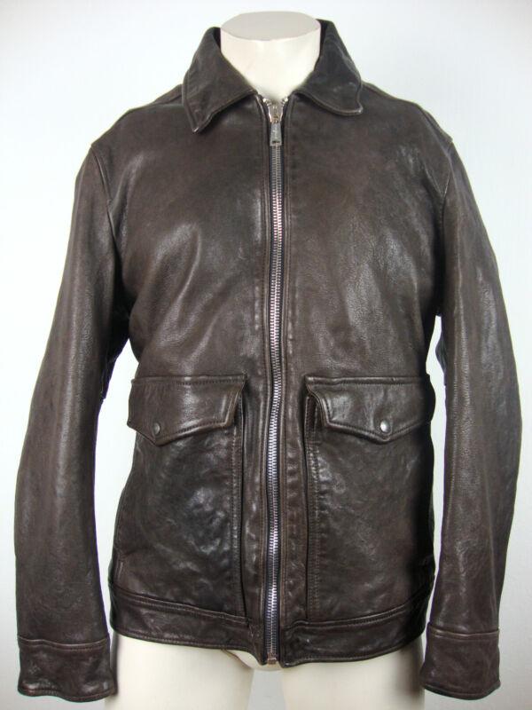 7 For All Mankind Biker Jacket Leather Herren Lederjacke Gr.xl Neu Mit Etikett