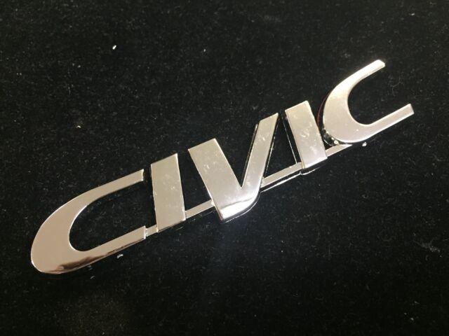 New 96 97 98 99 00 Honda Civic Rear Chrome Emblem Badge Decal 3M Tape EK EX LX