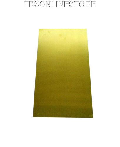 "Yellow Brass Sheet 22ga 12/"" x 6/"" 0.64mm Thick"