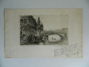Gravur Paris Used Große Woche Von Stores Lamellen Edouard Branly 1934