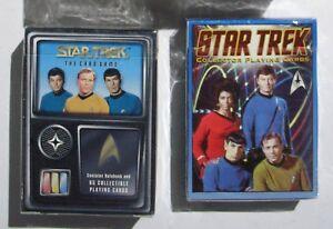 Lot of 2 NEW SEALED Decks Star Trek TOS Sealed Collector