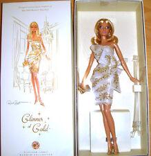 Barbie Glimmer of Gold Doll Platinum Label W/Shipper NRFB Free Ship U.S. xb1a