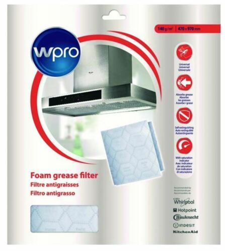 Universal Filtermatte Fettfilter Vlies 970x470mm Dunstabzugshaube 484000008526