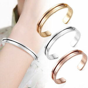 Image is loading Stainless-Steel-Titanium-Hair-Tie-Holder-Bracelet-Cuff- 4f9fe03a62e