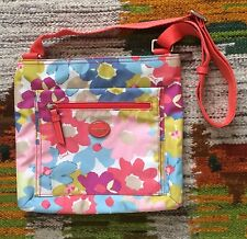 COACH F30021 Floral Print Getaway Nylon File Crossbody Shoulder Bag