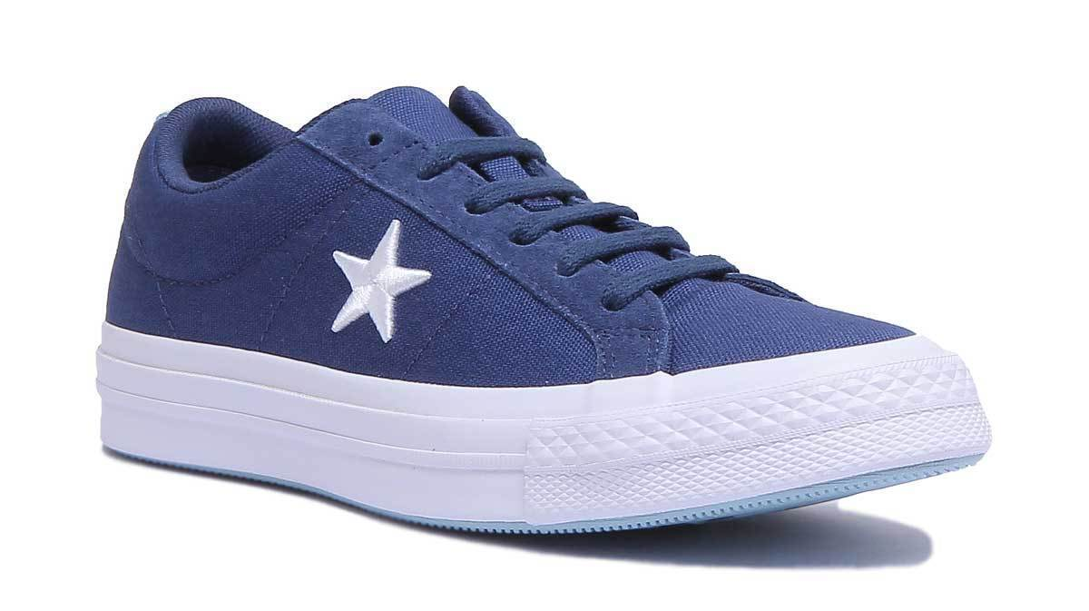 Converse One Star Canvas Country Pride Damens Canvas Navy Trainers UK Größe 3 - 8