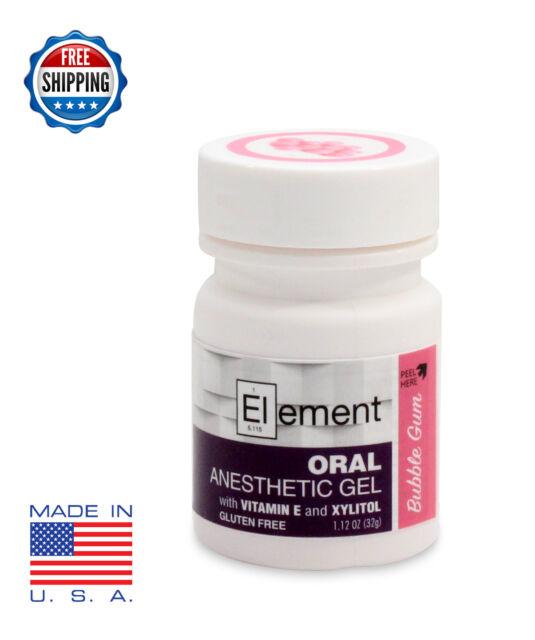 20x Element 20 Benzocaine Topical Anesthetic GEL Bubble Gum Flavor 1oz Jar