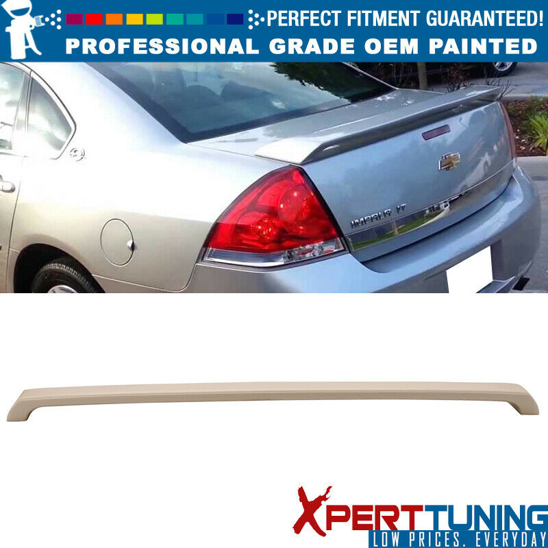 06-13 Chevrolet Impala SS Rear Trunk Spoiler Painted ABS WA8555 BLACK