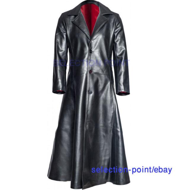 PVC Leather Gothic long coat Steampunk Jacket mans coat Blade vampire coat