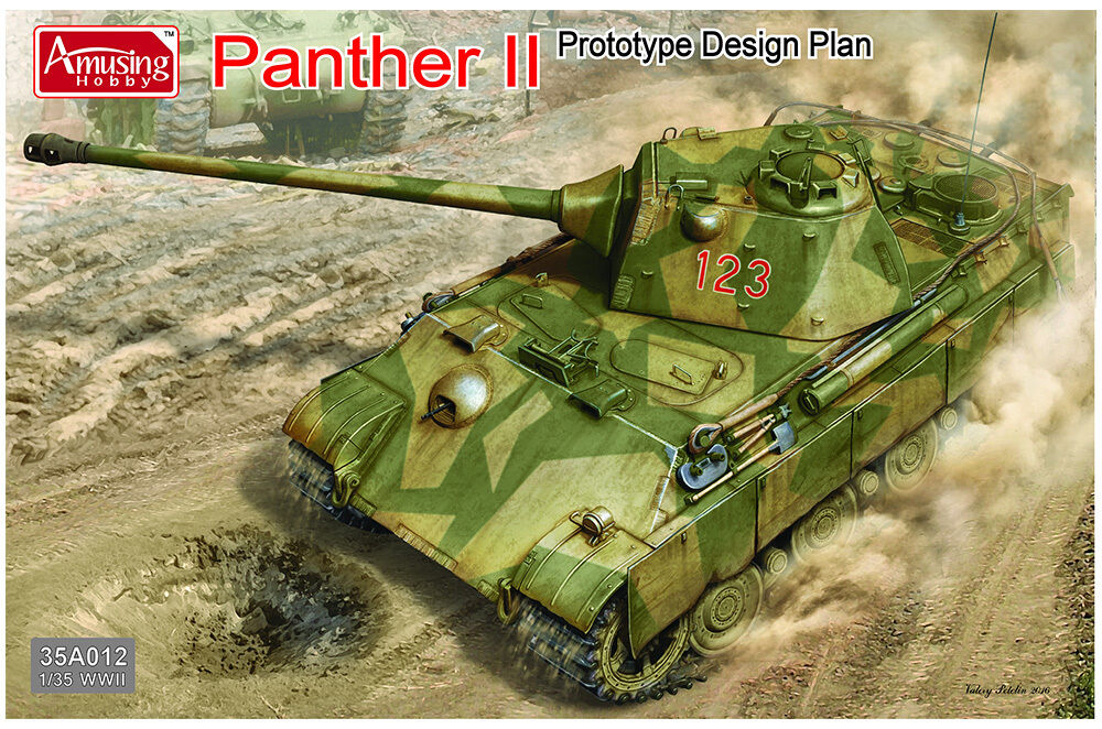 Amusing Hobby 1 35 WWII German Panther II Predotype Design Plan