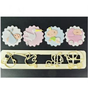 Baby-Stroller-Series-Cutter-Cookies-Fondant-Cake-Decorating-Mold-Decor-Tools-3D