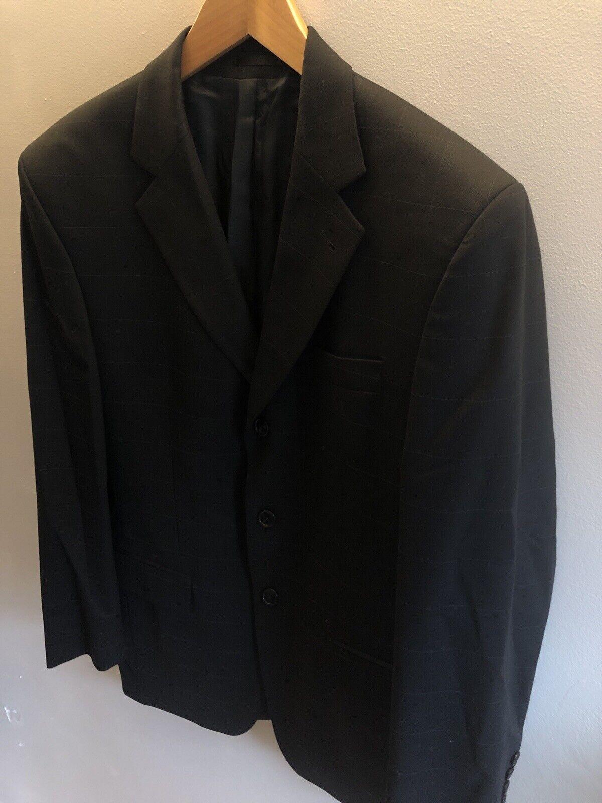 Mens Dehavilland Black Check Suit Blazer Jacket - 38R