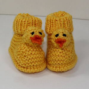 PRINTED-KNITTING-INSTRUCTIONS-TODDLER-CHICK-BOOTS-KNITTING-PATTERN