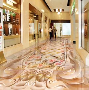 3D patrón hermoso papel de parojo de piso 85 Impresión De Parojo Murales AJ Wallpaper Reino Unido Limón
