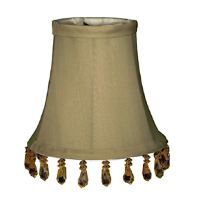 """3/"""" x 5/"""" x 4.5/"""" White Soft Bell Royal Designs Chandelier Lamp Shade"""