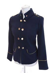 Chico-039-s-Navy-Blue-Military-Blazer-Jacket-Gold-Button-Marching-Women-Sz-0-Small-4