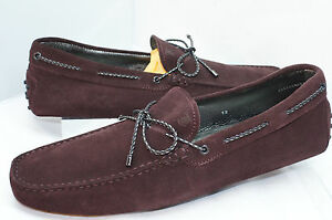 f7e1a78d171 New Tod s Men s Shoes Loafers Drivers Size 8 Laccetto Gommini Suede ...