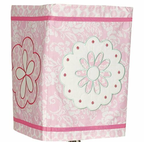 Forever Friends Square Fabric Lantern Blue and Pink