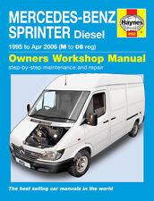 Mercedes Sprinter 2.2 2.9 Diesel 1995-06 M to 06 Reg Haynes Repair Manual 4902