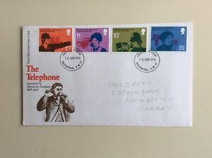 Post-Office-First-Day-Cover-The-Telephone-1976