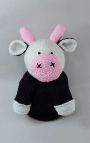 MOOSIE THE COW TOILET ROLL COVER KNITTING PATTERN INSTRUCTIONS TO MAKE YOURSELF