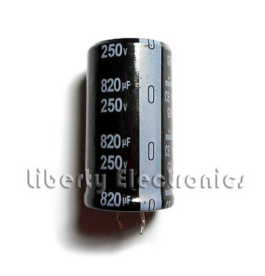 NEW 820 uF by 250V ELECTROLYTIC CAPACITOR 45x25mm YG