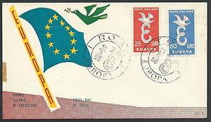 Copieux 1958 Italia Fdc Re.ru. Europa No Timbro Arrivo - V1