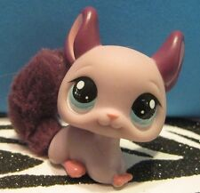 Littlest Pet Shop #2415 Purple Chinchilla w/ Fluffy Tail Blemish