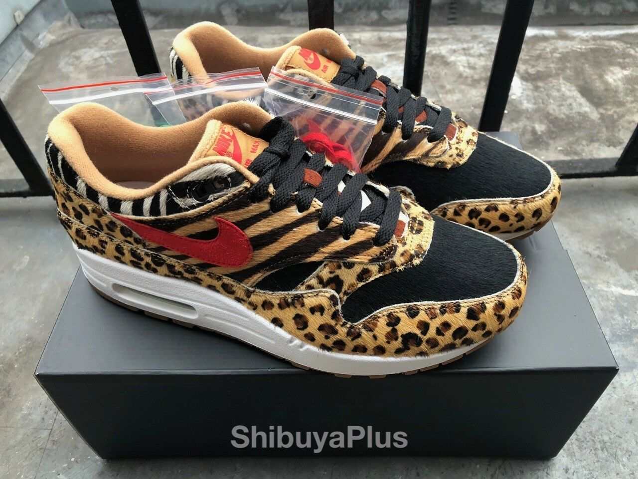 Nike Air Max 1 DLX Atmos Animal Pack 2.0 US 9 LEOPARD ZEBRA DAY