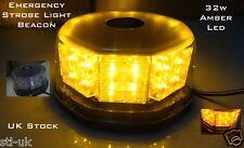 AMBER LED RECOVERY TRUCK 12V STROBE LIGHT BREAKDOWN FLASHING ORANGE BEACON