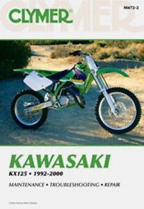 Brilliant Details About Clymer Repair Service Shop Manual Vintage Kawasaki Kx125 92 00 Machost Co Dining Chair Design Ideas Machostcouk