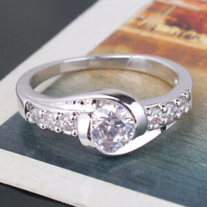Engagement ring designer styling white gold filled band in size P - Colchester, United Kingdom - Engagement ring designer styling white gold filled band in size P - Colchester, United Kingdom