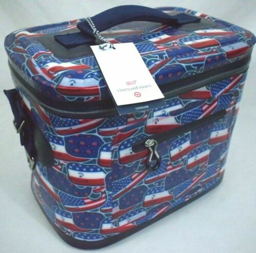 Vineyard Vines For Target Whale and USA Flag Red White /& Blue 12 Can Cooler New