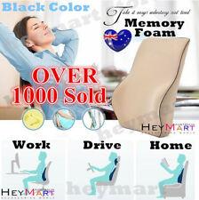 Black Memory Foam Lumbar Back Support Cushion Pillow Home Car Office Seat Chair1