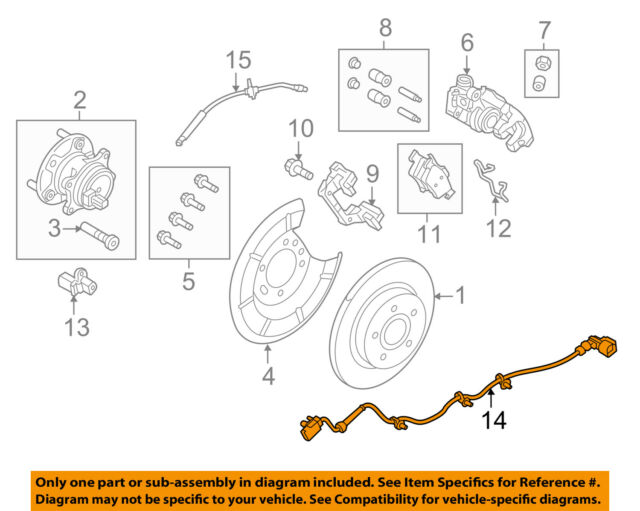 ford oem abs wheel speed sensor wiring harness f1ez2c055a image 14 rh ebay com Wiring Diagram for 2007 Nitro ABS Sensor Wiring