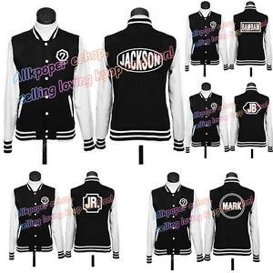 KPOP-GOT7-Baseball-Coat-Jackson-JB-Mark-Hoodie-Sweater-Pullover-Outwear-Jacket
