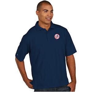 ebc7e41ebd7 Image is loading New-York-Yankees-Antigua-Embroidered-Pique-Xtra-Lite-