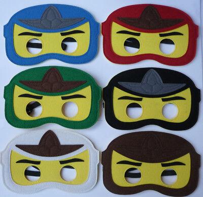 NINJAGO LEGO Ninja Boys Childrens Masks Kai Zane Cole Jay fancy dress lot