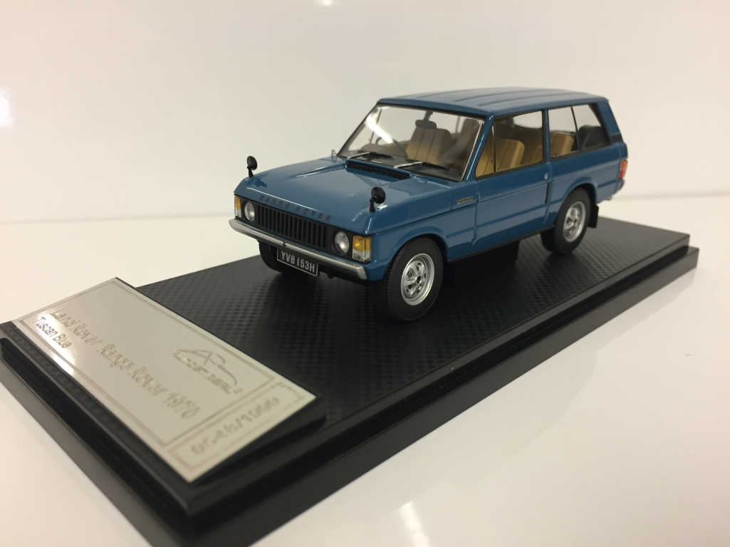 Land Rover Range Rover 1970 Tuscan Blau Maßstab 1:43 Almost Real 410101