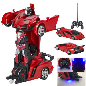 Toys For Kids Transformer Rc Robot Car Remote Control 2 In 1 Boy