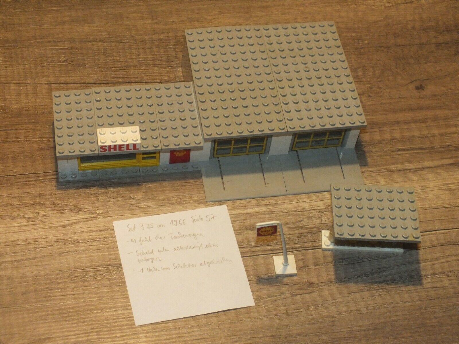 Lego Set 325 Shell Service Station Tankstelle Vintage City von 1966